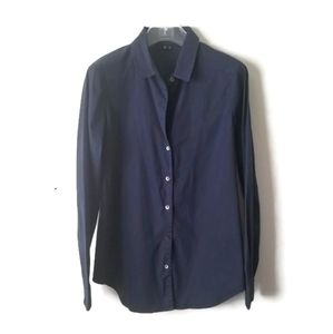 Theory Shirt Blouse Navy Blue sz M
